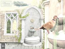 Dove, fountain