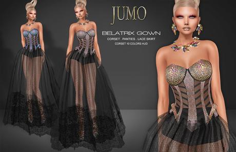 .:JUMO:. Belatrix Gown - Maitreya Belleza Slink - ADD ME