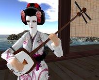 Japanese Shamisen by Voodoo v2 (Traditional Geisha instrument)