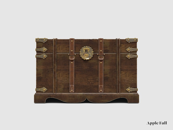 Apple Fall Leather Strapped Trunk