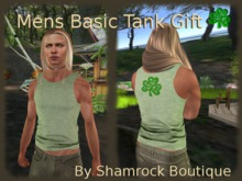 =<SB>= Mens Basic Tank - wearable demo/gift Shamrock Heathered