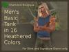 =<SB>= Mens Basic Tank - 16 Heathered Textures