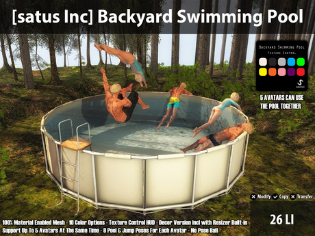 [satus Inc] Backyard Swimming Pool