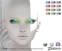 Zibska [Gift] ~ Paulie eye makeup in 12 colour combos with Lelutka, Catwa and Omega appliers