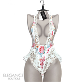 "Elegance Boutique -Romper - FloralWhite  -  ""Havana"" -"