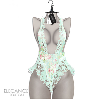 "Elegance Boutique -Romper - FloralAqua  -  ""Havana"" -  Legacy / Maitreya /Slink / Belleza"
