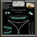 Beloved Jewelry : May Birthstone Set (Emerald) 6 Piece Set. Earrings, Hoops, Choker, Pendant