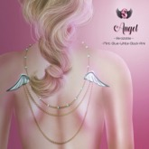 .::Supernatural::. Angel Backdrop Necklace [Silver]