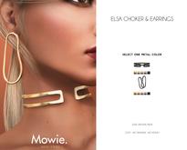 """Mowie. - """"Elsa"""" Choker & Earrings"""