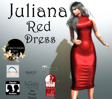 Continuum Juliana Red  Dress - SPECIAL OFFER