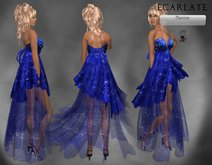 Ecarlate - Blue Dress Gown Formal / Robe de soiree Bleu - Manine - BF