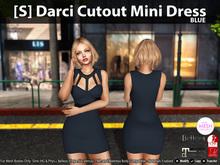 [S] Darci Cutout Mini Dress Blue
