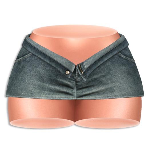 (AMD) Open Denim Skirt - Worn (wear to unpack)