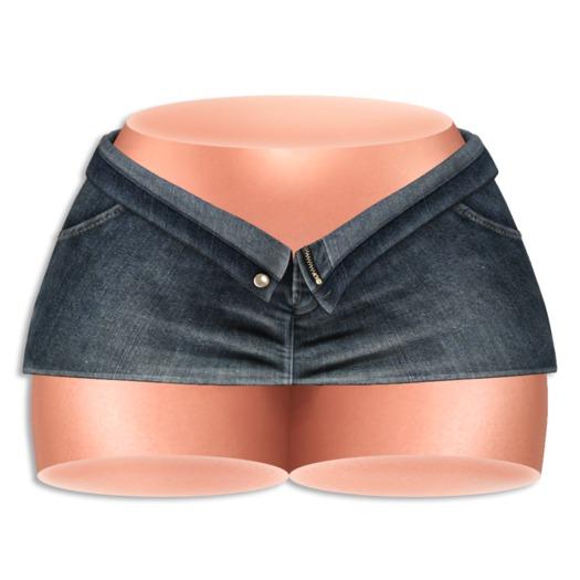 (AMD) Open Denim Skirt - Dark (wear to unpack)