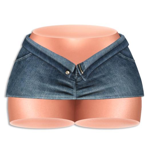 (AMD) Open Denim Skirt - Classic (wear to unpack)