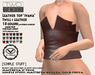 """Leather Top """"Ivana"""" TwoSided(add me)flat chest V-tech&Simple stuff 18 colors"""
