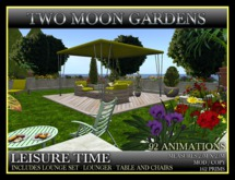 LEISURE TIME* Landscape Garden with garden furniture and 92 Animations