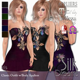 Silk Dreams Iris Minidress with Body Appliers
