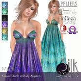 Silk Dreams Melli Gown w/Body Appliers
