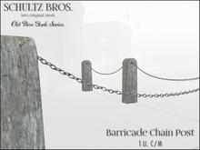 Schultz Bros. Barricade Chain Post
