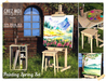 Painting spring set chez moi