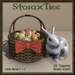 Easter Basket w Ceramic Rabbit A1