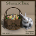 Easter Basket w Ceramic Rabbit A2