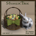 Easter Basket w Ceramic Rabbit A7