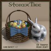 Easter Basket w Ceramic Rabbit A8