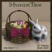 Easter Basket w Ceramic Rabbit A13