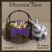 Easter Basket w Ceramic Rabbit A16