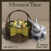 Easter Basket w Ceramic Rabbit A17