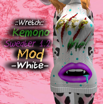 ".:Gintastic:. - Kemono Sweater Mod ""Bite me"" - White"