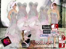 ShuSHu GOOD LUCK gown incl hat + heels to slink high feet - wearable Demo Gift