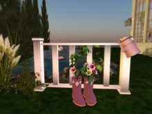 Garden Fence, Boots & Watering Can