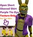 Open Short Sleeved Shirt - Purple Tie-Dye