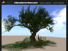 [Dolphin Design]8 High quality tree/flowers/grass