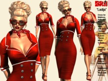 **LADIJA RED VERSION PIN UP STYLE COMPLET OUTFIT **