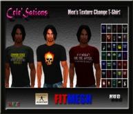 [CS] 35 Texture Change HUD Fitted Mesh Men's T-Shirt