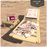 Special offer !! Follow US !! Sun lounger Hello Summer pink COPY version