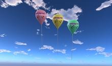 1 Balloon Prim - Feliz Páscoa - Azul - Transferência - Balões Cidade Xntra