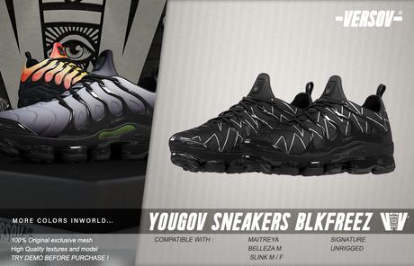 [ VERSOV ] YOUGOV_SNEAKERS_BLACK&FREEZE (BOX)
