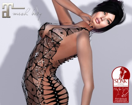 ~PP~ Sheer Spiderella Shimmer Gown