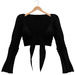Blueberry - Bella - Knotted Tops - Black