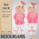 (Hooligans) - Daddy Loves Me Toddleedoo Outfit