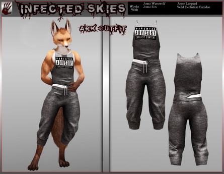 *IS* Ark Outfit Furry Black *New Sizes Included*