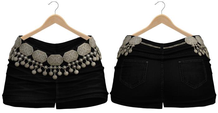 Blueberry - Calliope - Skirt & Belt - Black