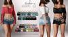 Blueberry addams calliope skirts