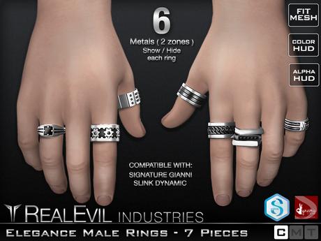 **RE** Elegance Male Rings Set - Signature Gianni - SLink Dynamic