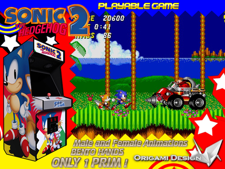 Second Life Marketplace Arcade Sonic The Hedgehog 2